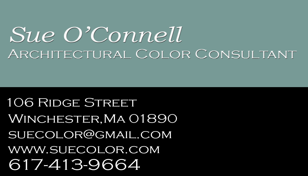 Business card designsue oconnell architectural color consultant sue oconnell color consultant here is a business card reheart Gallery